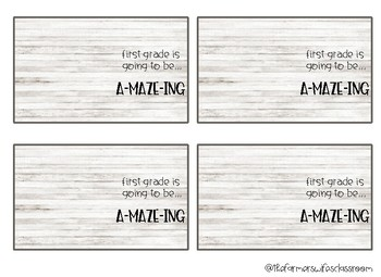maze gift tags