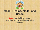 mean, median, mode, and range Unit