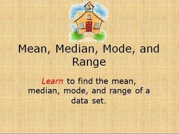 mean, median, mode, and range Unit