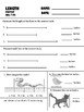 length measurement pretest, posttest, and retest