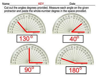 measuring angles with given protractors
