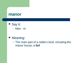 medieval vocabulary