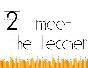 meet the teacher instruction signs
