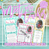 Meet My Teacher: All About the Teacher {Back to School Printables}