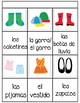 memory game-clothes in english and spanish
