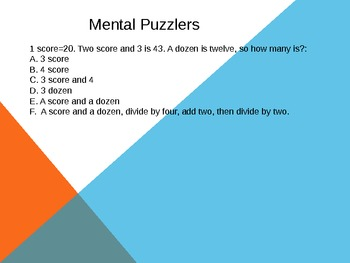 mental math warm ups