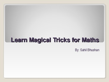 mental maths magic