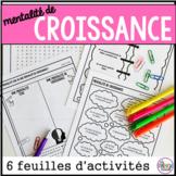 mentalité de croissance feuilles d'activités - French growth mindset activities