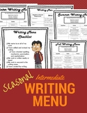 NO PREP Independent Seasonal Writing Menus