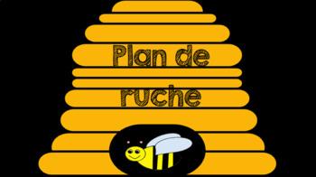 menu du jour: thème d'abeilles