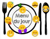 menu du jour: thème emojis