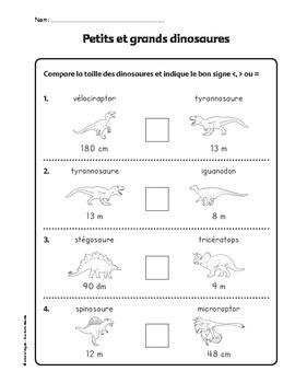 mesures dinosaures