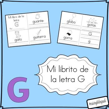mi librito de la letra g