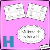mi librito de la letra h