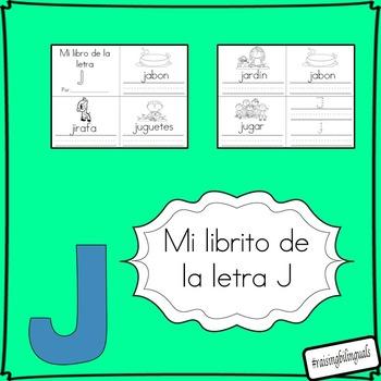 mi librito de la letra j