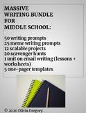 middle school writing bundle (coronavirus + SEL resources