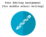 middle school writing peer editing assignment (for in-clas
