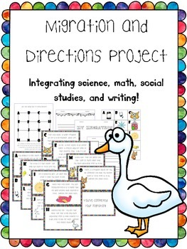 migration, skip counting, writing, and directions integration project