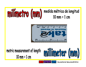 millimeter/milimetro meas 1-way blue/rojo