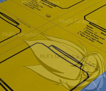 mini Block Head Craft  Template PDF
