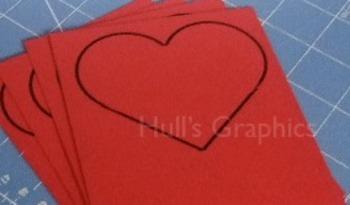 Mini Heart Craft Template PDF