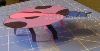 'mini' Lady Bug Craft Template PDF