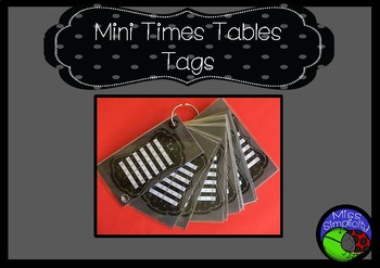 mini TIMES TABLES tags - so simple!