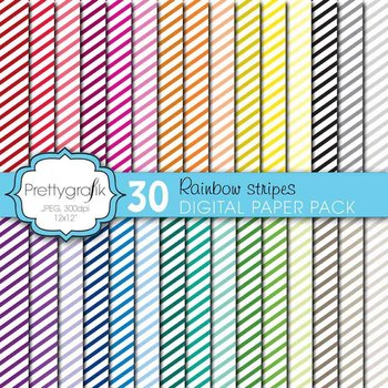 mini stripes digital paper, commercial use, scrapbook papers - CL612