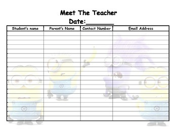 minion meet the teacher