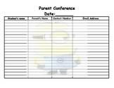 minion parent conference form