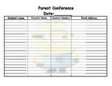 minion parent conference form
