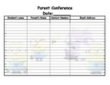 minion parent conference sign in sheet