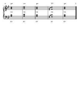 minor scale and chord progression worksheet