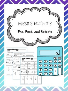 missing numbers pretest, posttest, and retest