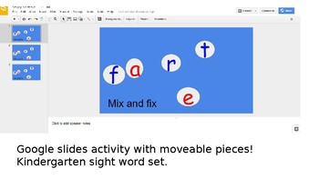 mix and fix first grade sight words