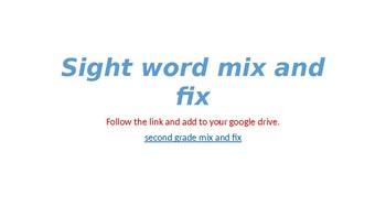 mix and fix second grade sight words