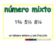 mixed number/numero mixto meas 2-way blue/verde