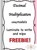 modeling decimal multiplication center/activity