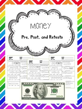 money pretest, posttest, and retest