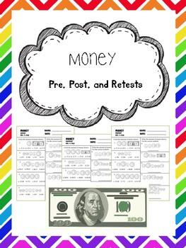 money pretest, posttest, and retest