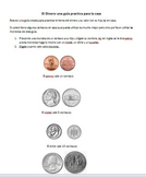 money worksheet for Spanish Speaking kids