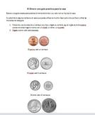 money worksheet for Spanish Speaking kids