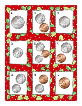 money_american coins_value identification_holiday theme freebie