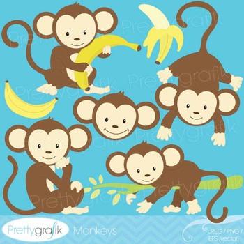 monkey clipart commercial use, vector graphics, digital clip art - CL524