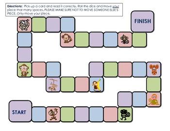 monkey themed blank gameboard