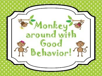 "Monkey around with good behavior! ""Bananas"""