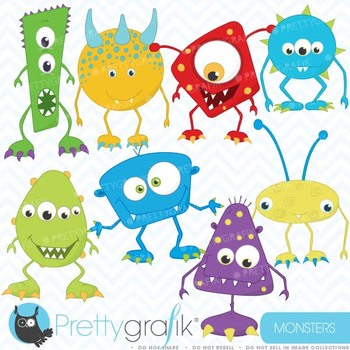 monster clipart commercial use, vector graphics, digital clip art - CL391