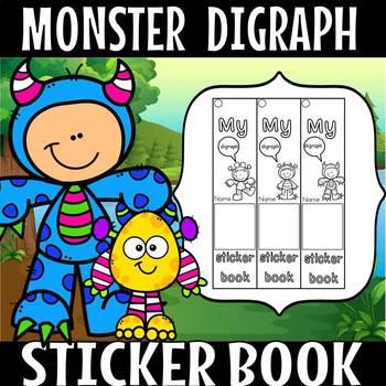 monster digraph sticker book.