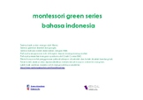 montessori green series bahasa indonesia