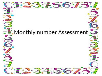 monthly number assessment